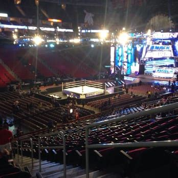 section 111 united center toyota center section 111 row 24 seat 2 view for a wwe