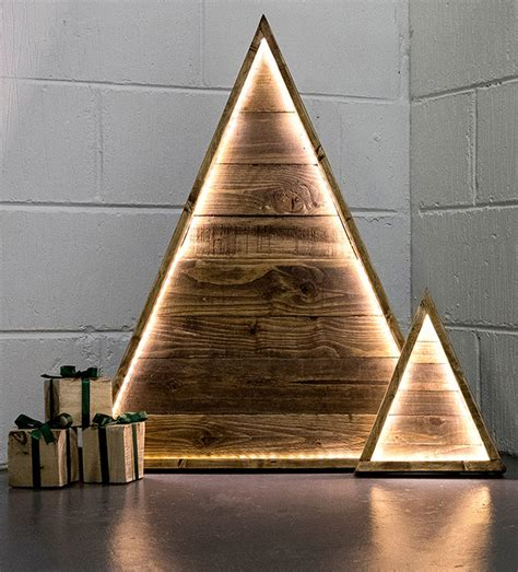 christmas tree light pole wood the best etsy shops for decorations upcyclist
