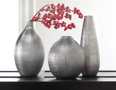 vases home decor zeal silver tall vase wholesale at koehler home decor