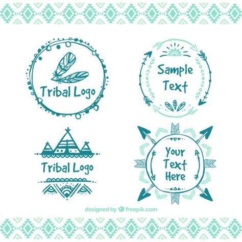 cornici tribali tribal logos vector premium