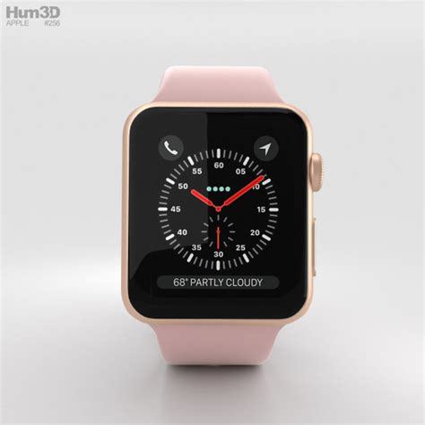 Apple Series 3 Gps 38mm Gold Alum With Pink Sand Sport Band Bnob apple series 3 38mm gps cellular gold aluminum pink sand sport band 3d model hum3d