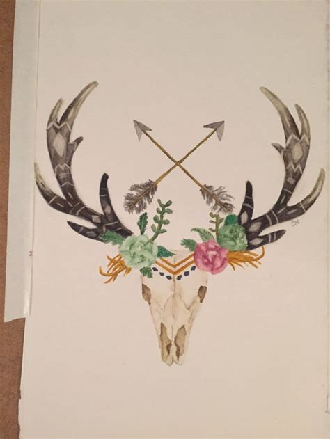antler tattoos designs deer antler stencil winter berry poinsetta deer antlers