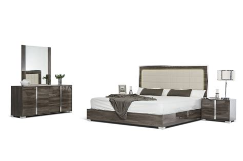 san marino bedroom set modrest san marino modern grey bedroom set