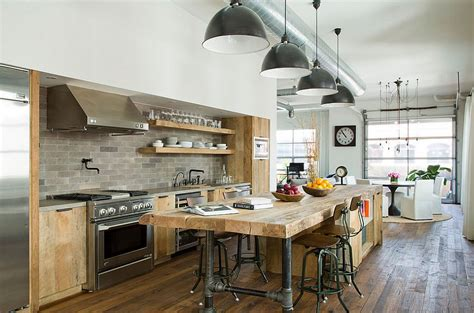 industrial style kitchen island 50 gorgeous industrial pendant lighting ideas