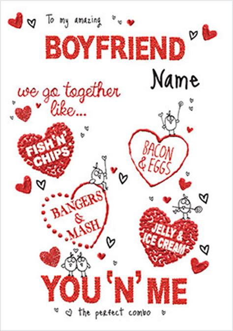 valentines day card for boyfriend boyfriend s day cards funky pigeon