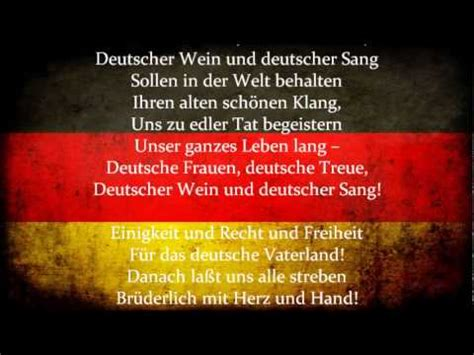 national anthem germany das lied der deutschen the song of the germans youtube