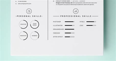 simple resume template vol 4 free simple resume template vol4 resumes templates pixeden