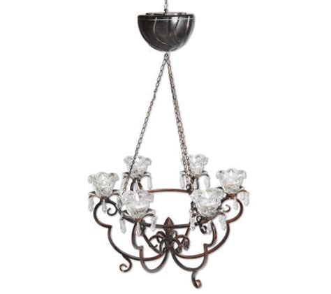 Anywhere Battery Operated Chandelier Page 1 Qvc Com Battery Powered Chandelier