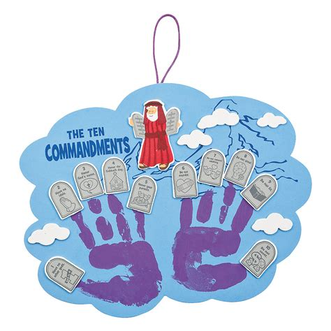 ten commandments for crafts ten commandments handprint craft kit handprint crafts