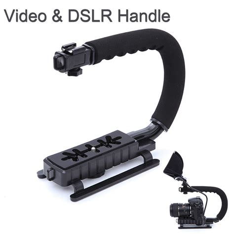 Handheld Stabilizer Kamera Dslr Gopro Xiaomi Yi T0210 4 stabilizer grip handle c shape for dslr gopro