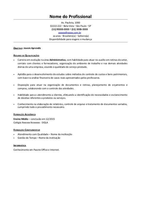 Modelo Curriculum Vitae Oficial modelo de curriculum de menor aprendiz modelo de curriculum