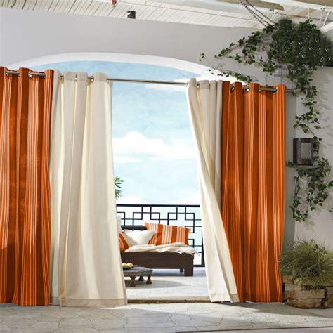 orange outdoor curtains indoor outdoor curtain panels curtain design