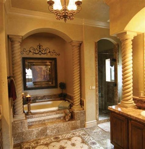 Mediterranean Bathroom Design Mediterranian Bathroom Rope Columns By Realm Of Design Mediterranean Bathroom Las Vegas