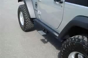 Jeep Wrangler Step Rails Mbrp 174 Jeep Wrangler 2007 2015 Black Powdercoat Rock Rail Kit