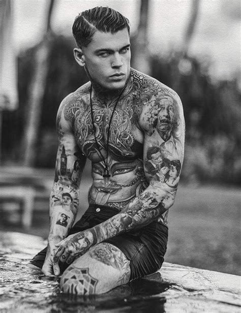tattoo full body model stephen james by errikos andreou errikos andreou