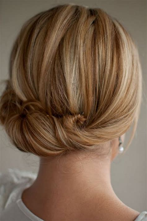 hairstyles updo back view smooth simple flattering updo hairstyle for long hair