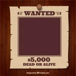 a wanted poster template wanted poster template vector free