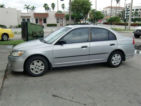 honda civic 4 door 2004 sell used 2004 honda civic sedan 4 door 1 7l in boca raton