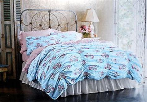 simply shabby chic cabbage rose ruched full queen duvet