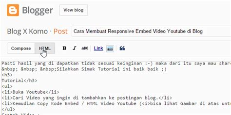 Membuat Youtube Responsive Di Wordpress | cara membuat responsive embed video youtube di blog