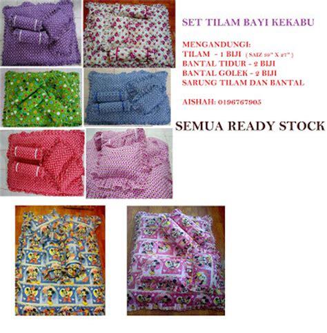 Baby Set Perlengkapan Tidur Bayi Ready Stock 34 Set Cadar Patchwork Cotton Set Tilam Bayi Kekabu