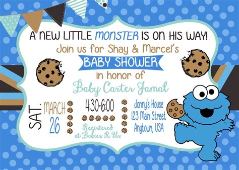 Cookie Baby Shower Invitations by Cookie Baby Shower Invitation Baby