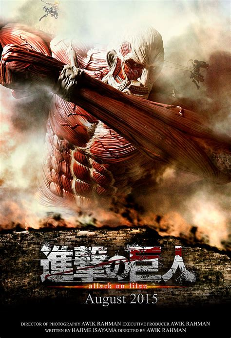 Poster Anime Poster Live attack on titan live poster fan made by awikrahman on deviantart