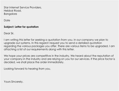 business letter format for quotation business quotation letter its types uses writing tips