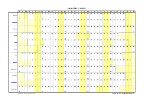 Galerry printable year planner a3