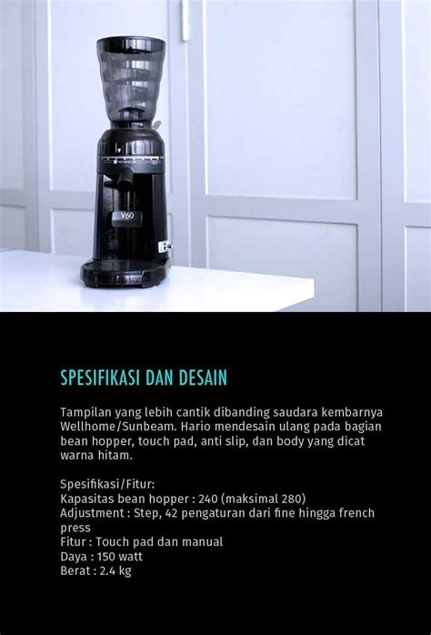 Alat V60 hario v60 electric coffee grinder cikopi