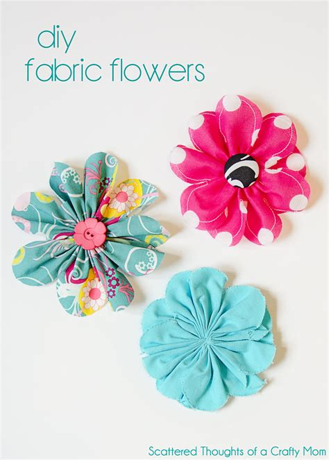 simple 5 inch fabric flower tutorial scattered thoughts of a crafty mom