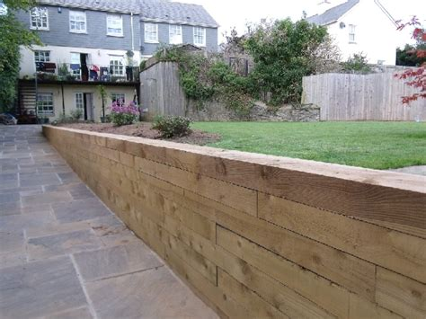 Railway Sleeper Wall Construction by Retaining Walls Great Scapes Landscape Design