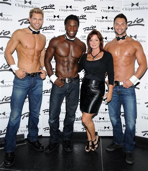 actress sheila kennedy visits chippendales  las vegas