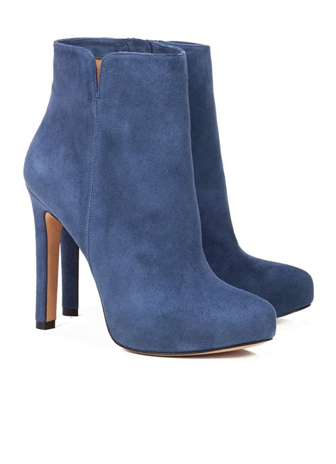 blue suede high heel boots high heel ankle boots in blue suede shoe store