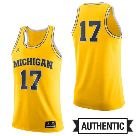 u of m colors of michigan basketball yellow authentic