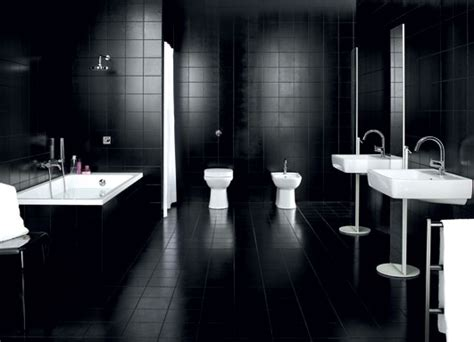 black tile bathroom ideas dadka modern home decor and space saving furniture for small spaces 187 black and white bathroom