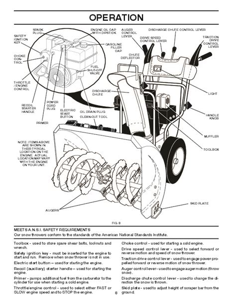Poulan Pro Xt5524es 422083 Snow Blower Owners Manual 2008