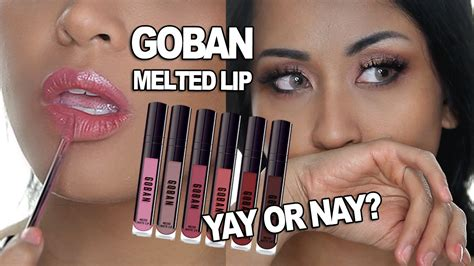 Lipstik Goban goban melted lip swatches honest review