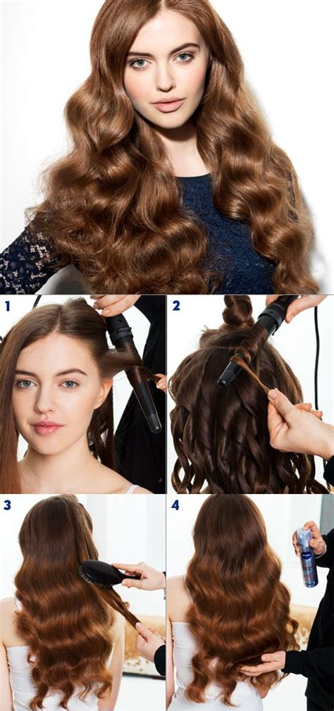 bridesmaid hairstyles useing a curling wand 1 using a medium sized curling wand wind each section of