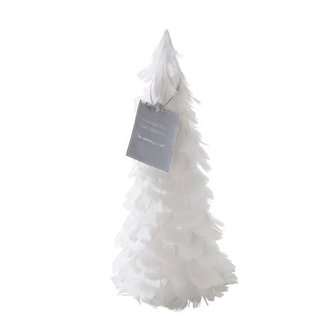 white feather tree table decoration by bunting barrow
