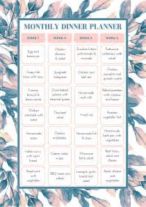 month template free monthly meal planning template bake play smile