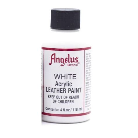 angelus leather paint usa angelus acrylic paints 4oz white chickadee solutions