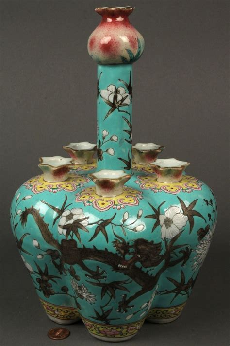 Crocus Bulb Vase by Lot 428 Porcelain Neck Bulb Or Crocus Vase