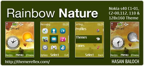 nokia c2 nature themes rainbow nature live theme for nokia c1 01 c1 02 c2 00