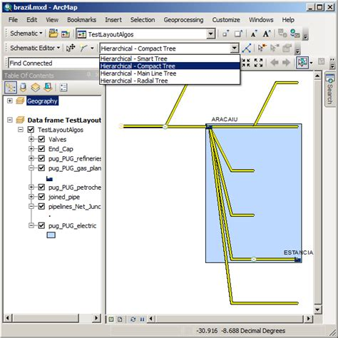arcgis layout guides exercise 3 configuring schematic layout algorithms help
