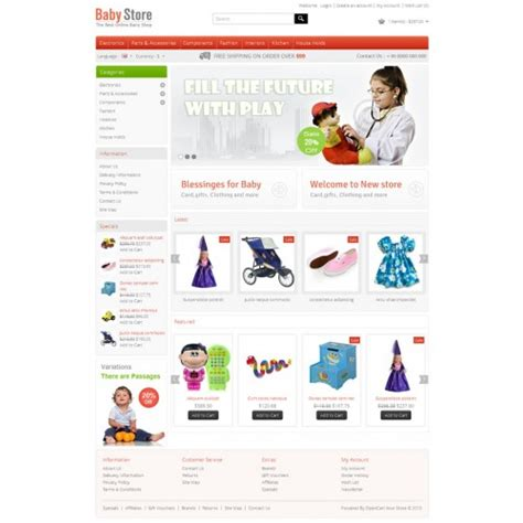 template opencart opencart baby opencart template opc040089
