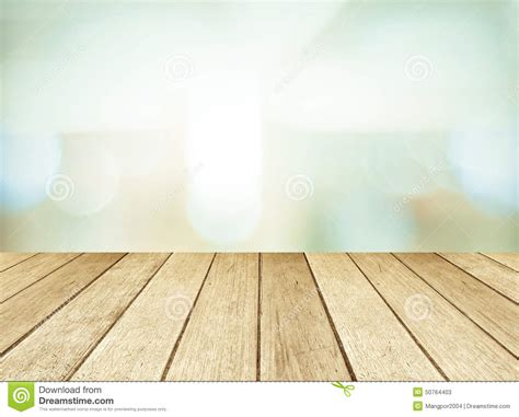 Produk Natur Shoo perspective wood and blurred store with bokeh background