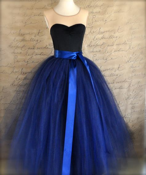 length navy tulle skirt navy tulle lined with black