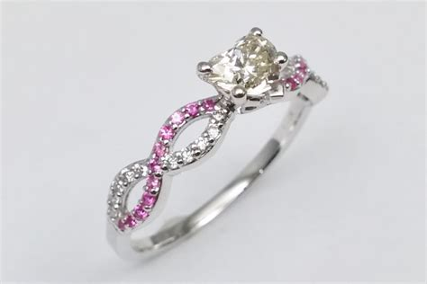 Pink Sapphire Engagement Rings by Pink Sapphire Engagement Rings From Mdc Diamonds Nyc