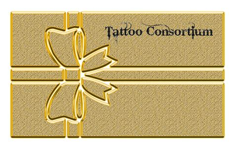 tattoo consortium give your loved ones a gift certificate to